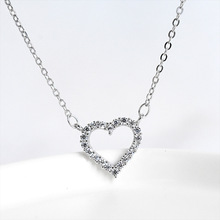 ZOBEI  Real 925 Sterling Silver Minimalist Heart Choker Necklace For Fashion Women Party Cute Fine Jewelry  Accessories Gift