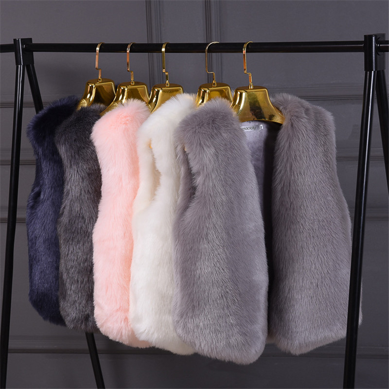 Fur Vest Women 2019 Fashion Coat Warm Furry Elegant Ladies Vest Jackets Fluffy Fox Fur Gilet Autumn Winter Jacket For Woman New