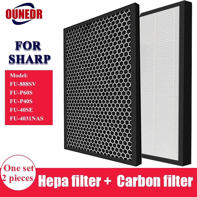 Угольным Hepa фильтр для замены для Sharp FU 888SV FU P60S FU P40S FU 40SE FU 4031NAS очиститель воздуха части|Запчасти для воздухоочистителя|   | АлиЭкспресс