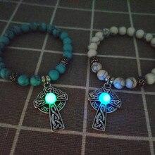 Pulseira Masculina Sale Unisex Erkek Bileklik Bracelet For Luminous Cross 2019 New Beads Wishing Filament Jewelry