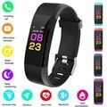 HEIßER 115PLUS Smart Band Unterstützung Herz Rate Blutdruck Calorie Schritt Überwachung IP67 Wasserdichte Fitness Armband Zufällige farbe