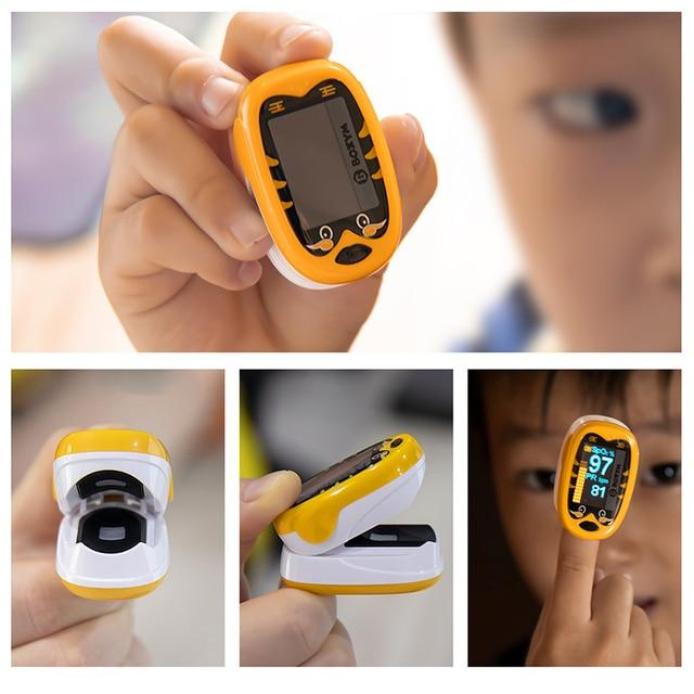 BOXYM Baby Finger Pulse Oximeter Pediatric Oximetro De Dedo SpO2 PR OLED Rechargeable Neonatal Children kids Pulsioximetro CE 4