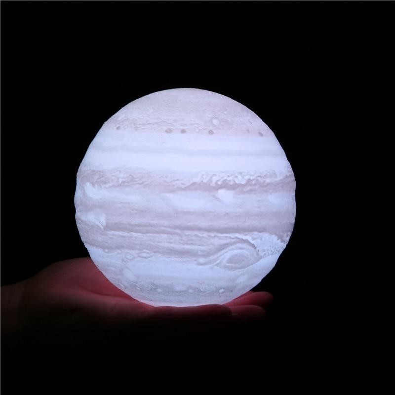 The Latest 3D Printing Jupiter Moon Lamp Creative Romantic Star Lamp 16 Color Birthday Festival Nightstand Decorative Lamp