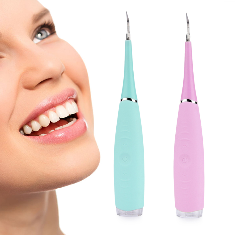 Teeth Whitening Tooth Stain Remover Home Use Teeth Stains Scaling Tools USB Charging High Frequency Vibration Dentist Tools