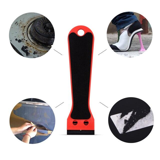 EHDIS Lange Griff Carbon Faser Film Rasiermesser Schaber Wrap Aufkleber Kleber Entfernen Rakel Fenster Tönung Staub Sauber Werkzeug Auto Zubehör