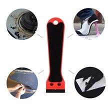 EHDIS ยาวคาร์บอนไฟเบอร์ฟิล์มมีดโกน Scraper สติกเกอร์กาวลบไม้กวาดหน้าต่าง Tint ทำความสะอาดเครื่องมืออุปกรณ์เสริม