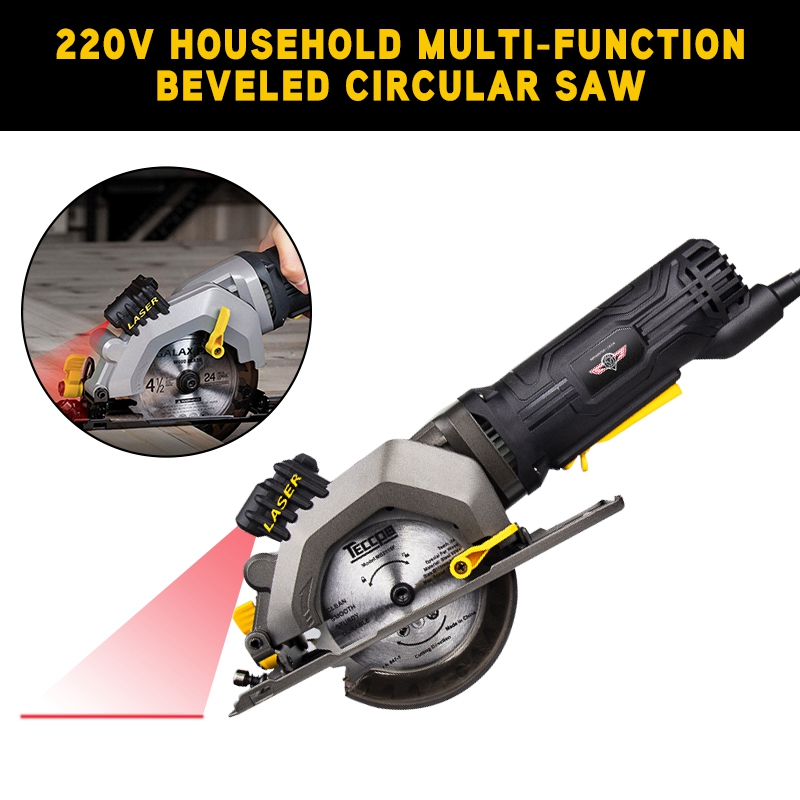 2019 220V Household Multi-function Beveled Circular Saw Without Laser Cutting Tool Woodworking Saw Machinery Die-Cut Machines