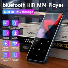HIFI Mp4 Player 1.8 inch screen bluetooth Lossless Music player Mini MP3 Portable Audio Players FM Radio E-book video mp5 player(China)