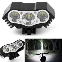 High Quality 7500 Lumen 3X T6 LED Zoom Flashlight Mini Torch LED Cycling MTB Road Bike Front Head Bicycle Lights With Mount цена