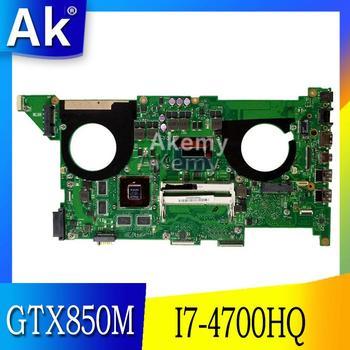 Placa base de ordenador portátil AK N750JK/N750JV para ASUS N750JK N750JV N750J N750 placa base original de prueba I7-4700HQ GTX850M