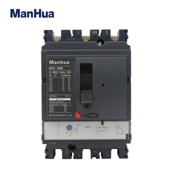 Manhua MCCB 3P3T capacidad de ruptura ajustable 160A MSX-160N caja moldeada disyuntor