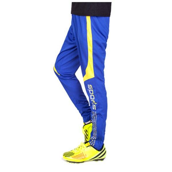 Штаны для американского футбола, мужские футбольные тренировочные штаны, штаны с карманами на молнии для бега, мужские спортивные штаны для фитнеса и тренировок - Цвет: Синий