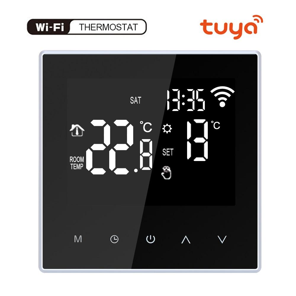 Умное приложение Tuya с дистанционным управлением через Wi-Fi, умный комнатный термостат с голосовым управлением, терморегулятор, Alexa 110-240 В