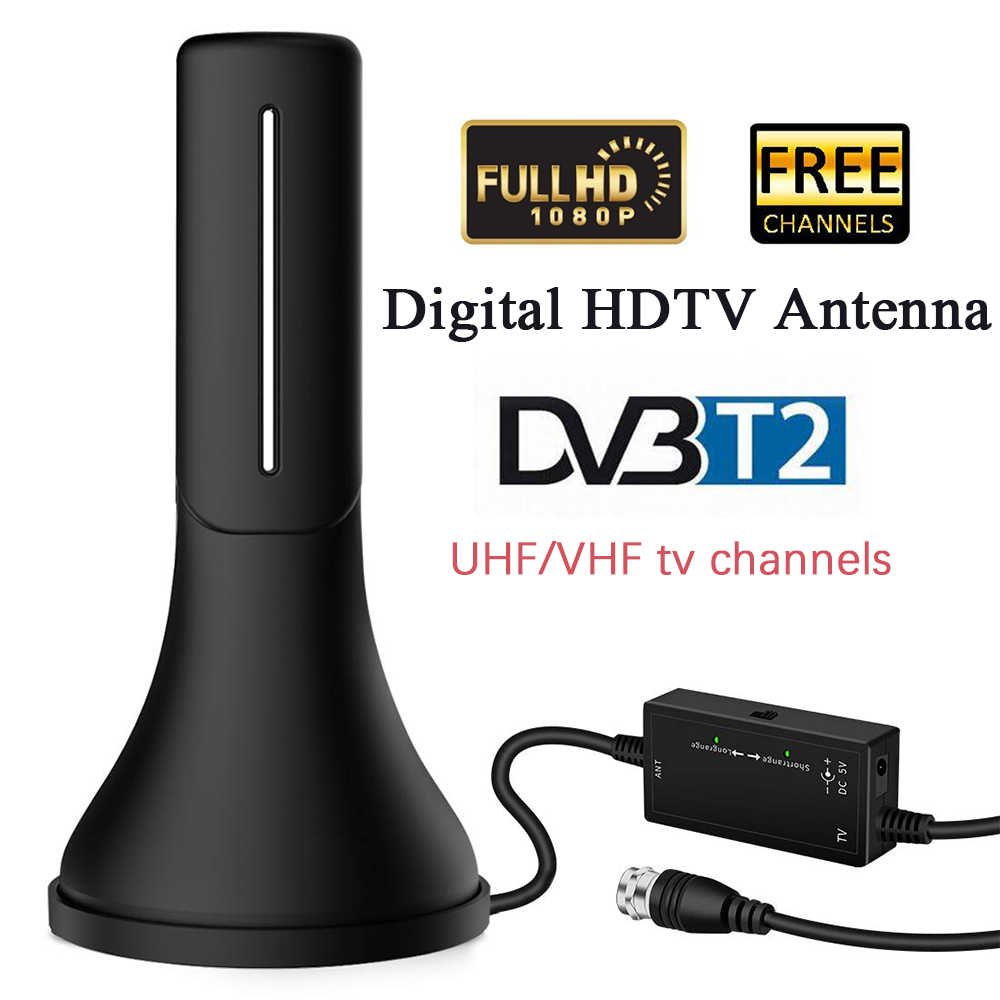 Satxtrem Indoor TV Antenna DVB T2 Digital HDTV Antenna Outdoor 120 Miles Range UHF VHF DVB-T2/ISDB‐T/DTMB/ATSC Digital Amplifier