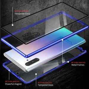 Image 4 - מקרה עבור שיאו mi mi הערה 10 פרו כיסוי mi CC9 פרו מקרה אנטי מרגלים 9H מלא פרטיות מזג זכוכית מסך מגן מתכת מגנט מקרה