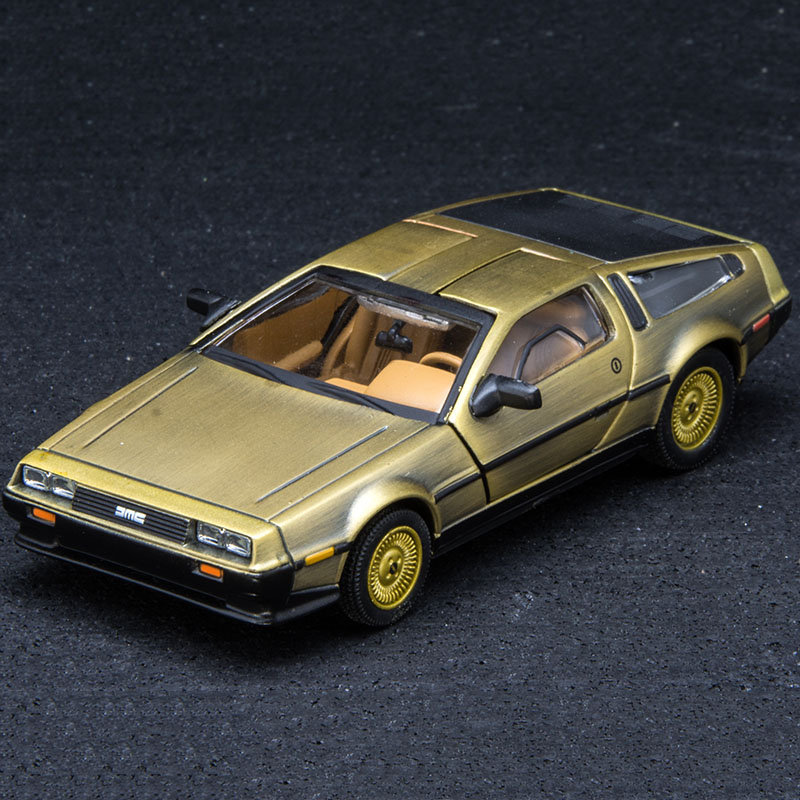 1/43 scale metal alloy <font><b>car</b></font> <font><b>diecast</b></font> <font><b>model</b></font> timer DeLorean DMC-12 <font><b>model</b></font> toy back to the future furniture collection decoration boys image