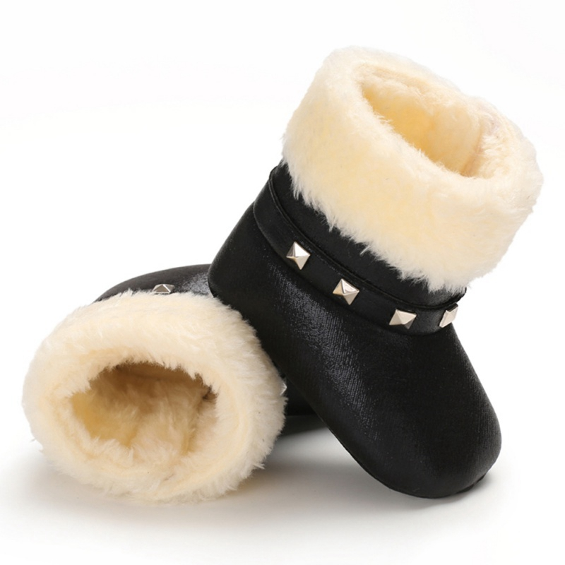 Autumn Winter Children Boots Baby Girl PU Boots Casual Shoes First Walkers Newborn Cute Non-slip Soft Sole Shoe
