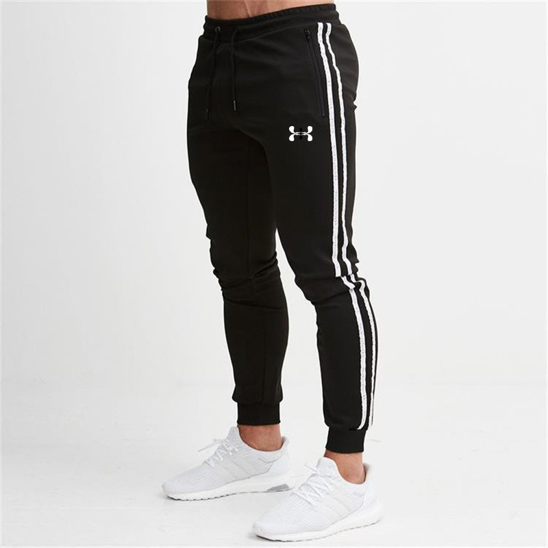 Men Joggers casual pants with zipper Fitness sportswear tight sweatpants black sweatpants Gyms Jogger Track Pants 2020
