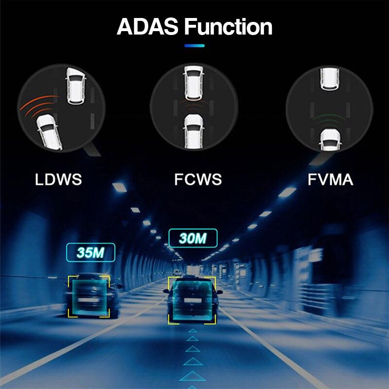 "ACCEO12"" Car DVR Rearview Mirror 4G Android 8.1 Dash Cam GPS Navigation ADAS FHD 1080P Auto Video Recorder Camera WiFi Dashcam 4"