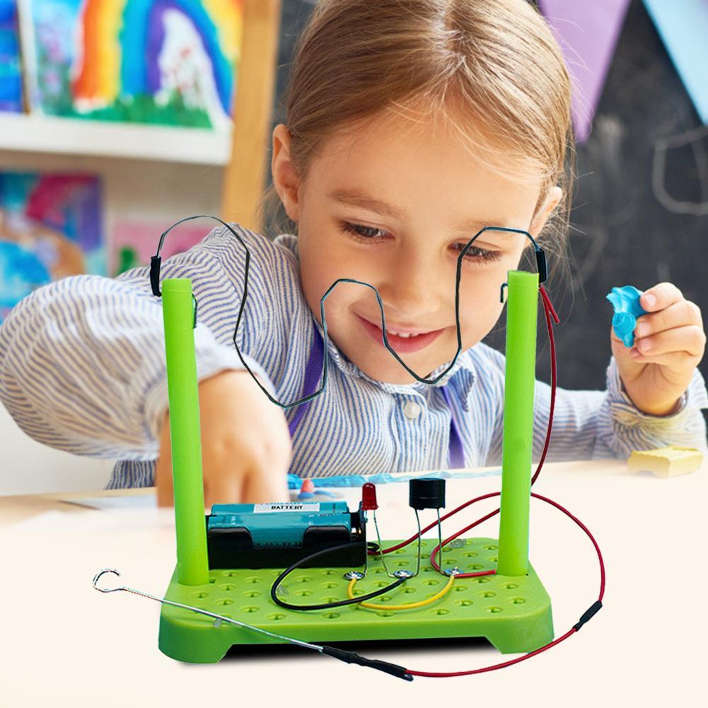 Bricolage expériences scientifiques physiques Circuit Kit ABS composants électroniques enfants éducatifs manuels jouets couleur aléatoire