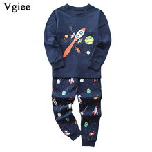 Vgiee Children Boys Girls Clothes Fall Winter Full Unisex Crtoon Pattern for Rocket Baby Kids Girl Set CC650