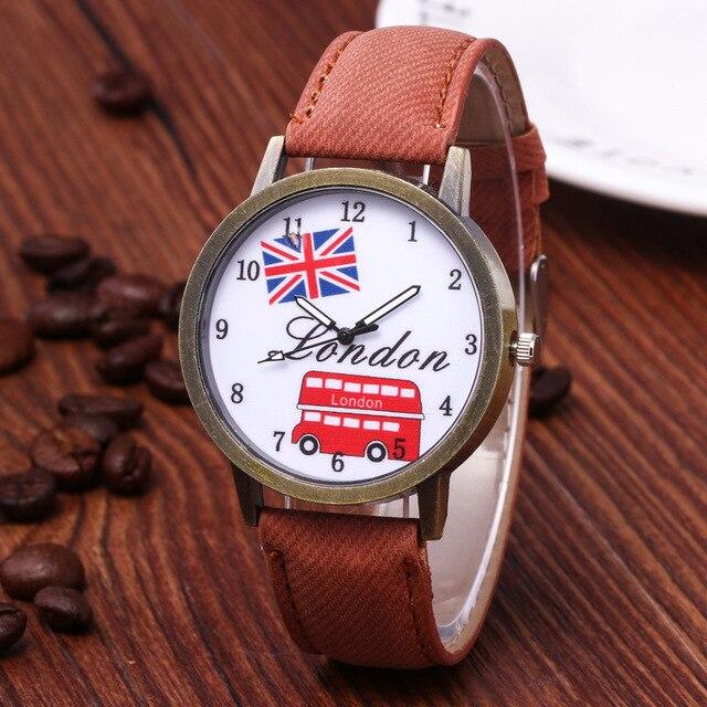 Reloj hombre venda quente denim retro carro bandeira britânica relógio casual relógio unisex relógio de presente de aniversário para mulher 5