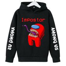 Entre nós hoodies meninos meninas camisolas quente jogo entre nós hoodie crianças menino/meninas outono inverno com capuz 2021