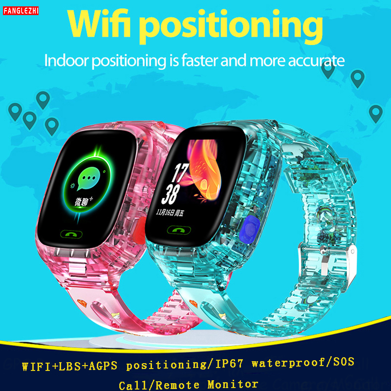 2019 Kid Smart Watch Children Sim Card 2g Camera WiFi+GPRS+LBS Positioning IP67 Waterproof Watch Phone Smartwatch for Android