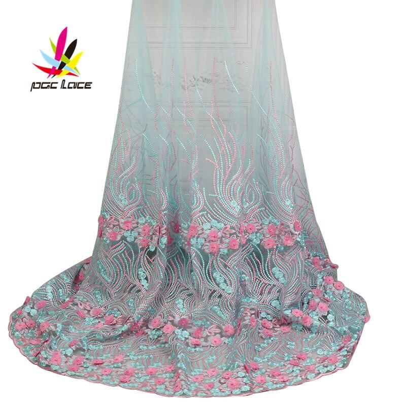 Últimas telas de encaje nigeriano francés con cuentas de tul de alta calidad tela de encaje de tul francés africano de boda AMY1866B 1-in encaje from Hogar y Mascotas    1