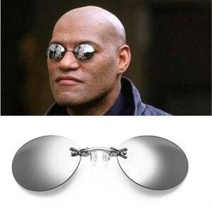 Fashion Clip On Nose Sunglasse