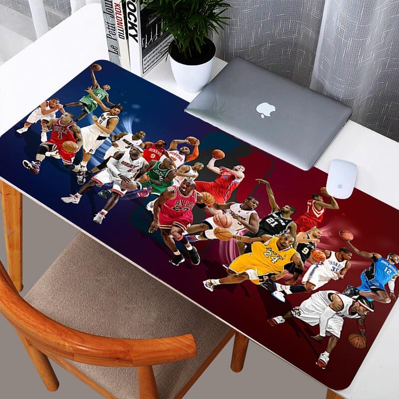 Баскетбол художественный дизайн по индивидуальному заказу большой расширенной Мышь игровой коврик коврики Мышь pad клавиатура Настольный коврик Размеры 300mmX800mm-0