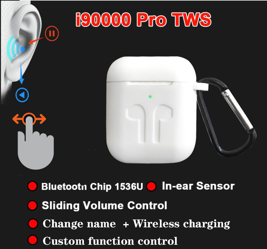 I90000 Pro TWS arie 2 Bluetooth écouteur sans fil sport écouteurs fone de ouvido réglage du Volume coulissant pk i5000 i100000