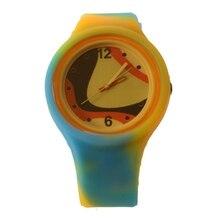 Унисекс свободного покроя силиконовый ремешок кварцевые часы конфеты цветные желе часы дамы мода платье Кварцевые наручные часы женщины дети часы