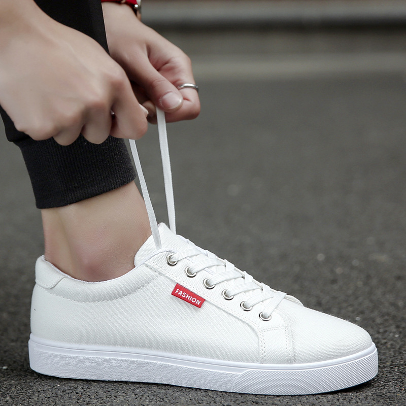 Male Sneakers Tennis Flat-Shoes Masculino White Casual Fashion Adulto Lace-Up Zapatos-De-Hombre