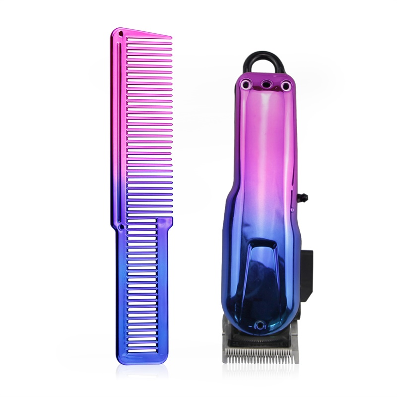 Gradient Comb Clipper Shell Professional Electric Clipper Hair Trimmer Cover Salon Hair Styling Hairdresser Hair Clipper Cover
