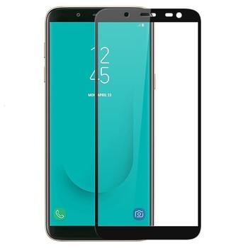 100Pcs Full Coverage Tempered Glass For Galaxy Samsung J2 Pro 2018 J4 Core J6 J7 J8 Plus Screen Protector Full Glue Glass Film