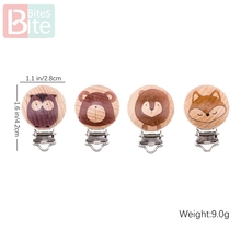Bite Bites 2pc Baby Clip Holder Soother Pacifier Beech Rodent BPA Free Teether DIY Pendant Chew Childrens Goods