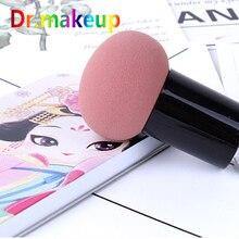 New Cute Mushroom Head Powder Puff Round Makeup Sponge Black Pink Cosmetic Dry & Wet Dual Purpose Beauty tool
