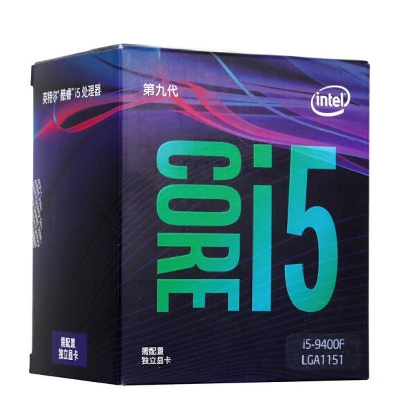 Процессор Intel Core i5 9400F, 2,9 ГГц, шестиядерный процессор с 6 потоками, 9 м, 65 Вт, LGA 1151, новый и в комплекте с кулером