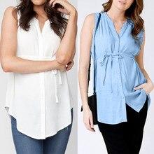 Women Clothing Blouse Nursing-Tops Breastfeeding Summer Pregnant Striped