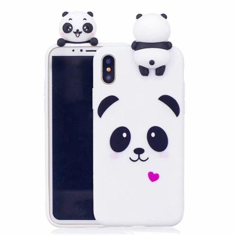 Coque 3D souple en Silicone pour iPhone SE 2020 SE2 mignon Panda pour iPhone 11 Pro