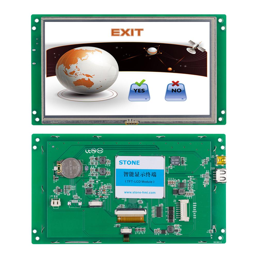 Embedded 7.0 Inch HMI TFT LCD Display Module With RS232 Interface + Touch Screen +Program For Equipment Use