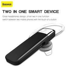 Baseus V4.1 Stereo kablosuz Bluetooth kulaklık tek kulak Mini handsfree kulaklık iphone samsungxiaomi kulakiçi araba telefon için