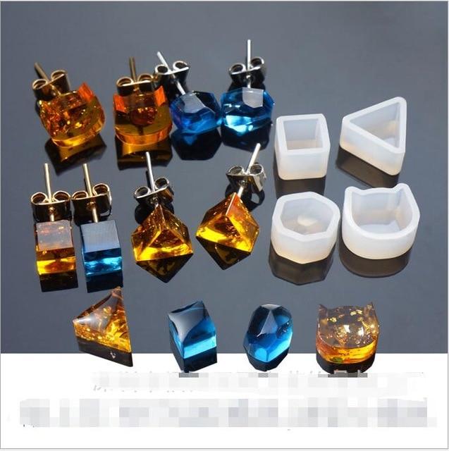 Popular2pcs/set Earrings Multi Shaped Silicone Jewelry Making Tools For Women Pendant Bracelet Resin Expoxy Mold