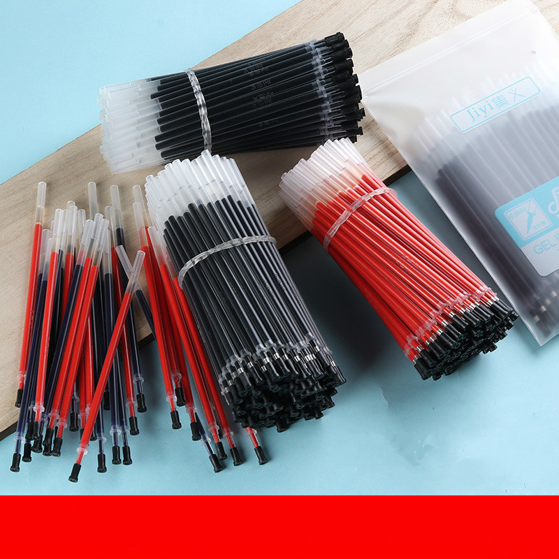 New Arriva20 Pcs Gel Pen Core Transparent Rod For Pens Black Blue Red Pen Stationery Student Supplies