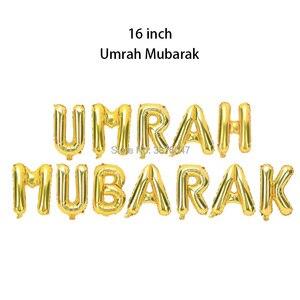 Image 4 - umrah mubarak balloons eid mubarak  Islam Muslim new year festival party decorations letter foil balloon banner