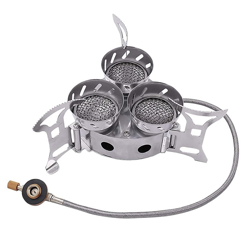 Stove Three-Core Outdoor 3-Heads 11000W Furnace-End Wild High-Power Windproof Camping