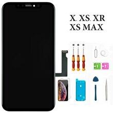 EN Kaliteli OLED Ekran iphone XsMax XR Dokunmatik Ekran ile LCD Ekran Digitizer Siyah Için iphone X Xs Ekran