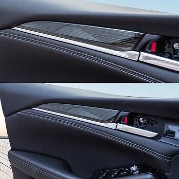 Interior Molding For Mazda 6 Mazda6 2019 2020 Car Inside Door Garnish Body Trim Accent Molding Cover Bezel Styling Protector stainless steel side car door body molding cover trim line garnish protector for volkswagen vw tiguan accessories 2010 2017