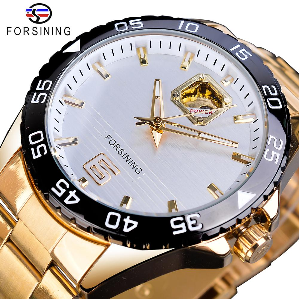 Forsining Mechanical Golden Mens Watch Top Brand Luxury Business Male Watches Business Automatic New Arrival Fashion Man Clock